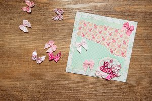 Scrapbooking greeting card