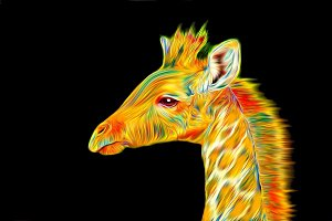 Giraffe Art - Dreaming of Color
