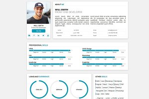 Redax WP - Simple OnePage CV Resume
