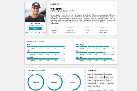 Redax WP Simple OnePage CV Resume