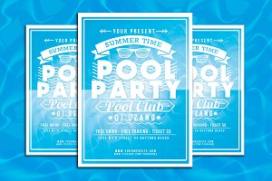 Pool Party Summer Time Flyer