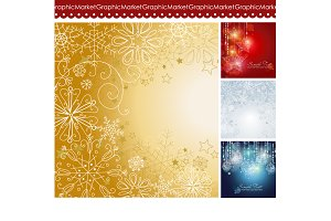 4 Christmas template designs