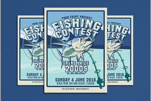 Fishing Contest Flyer