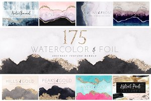 Watercolor Texture Foil BUNDLE