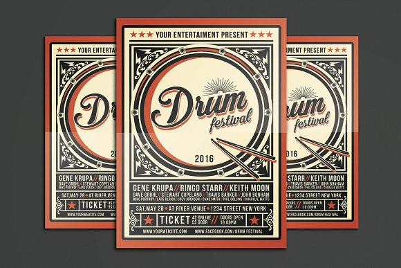 Drum Festival Flyer Template