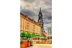 Buildings in the historic centre of Dresden