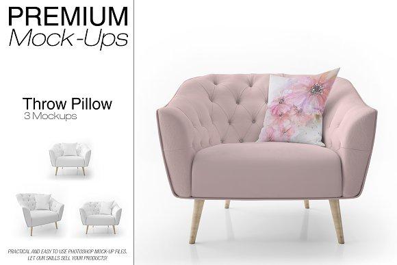 Throw Pillow Mockup Set