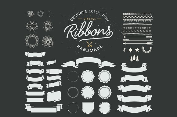 70+ Vintage Ribbons in Illustrations - product preview 4