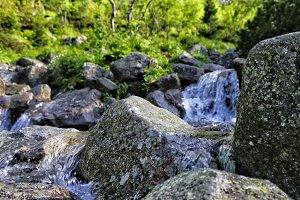 Waterfall in tatra unmotain