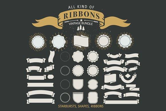 70+ Vintage Ribbons in Illustrations