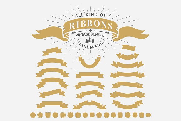 70+ Vintage Ribbons in Illustrations - product preview 1