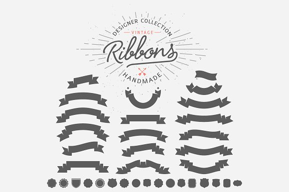 70+ Vintage Ribbons in Illustrations - product preview 3