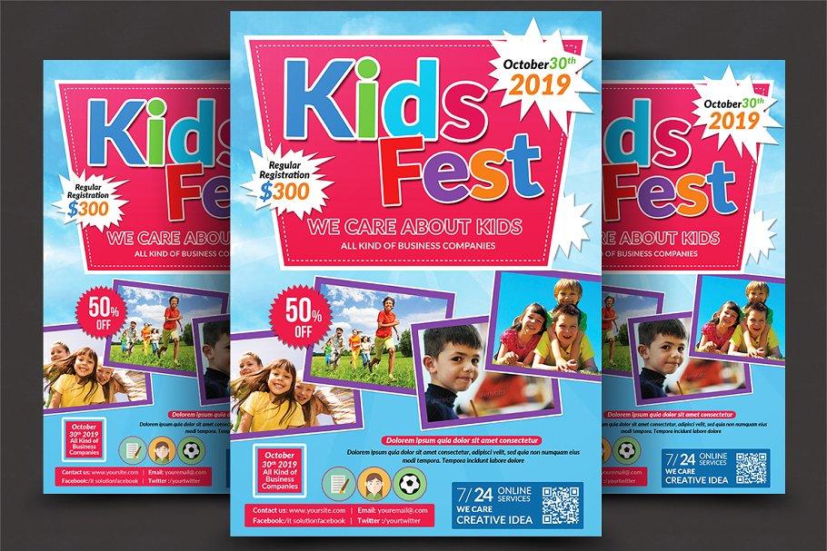 Kids Summer Camp Flyer Template Flyer Templates Creative Market Pro
