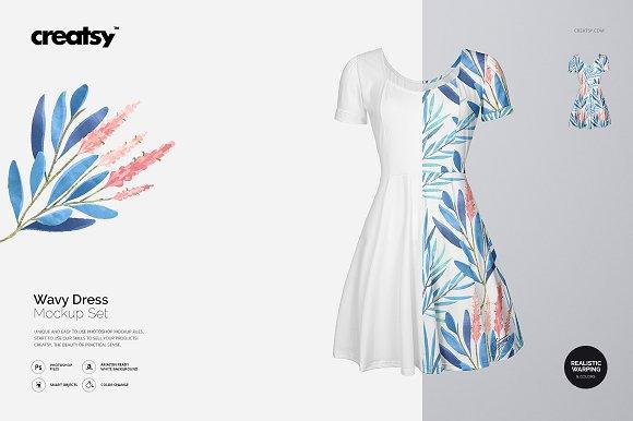 Wavy Dress Mockup Set