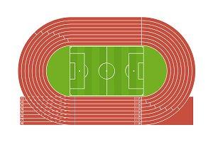 Running Track Stadium