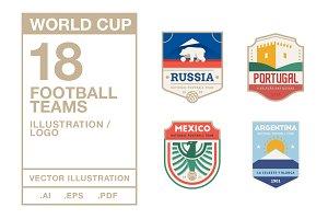 Football Teams Logo #1 - World Cup