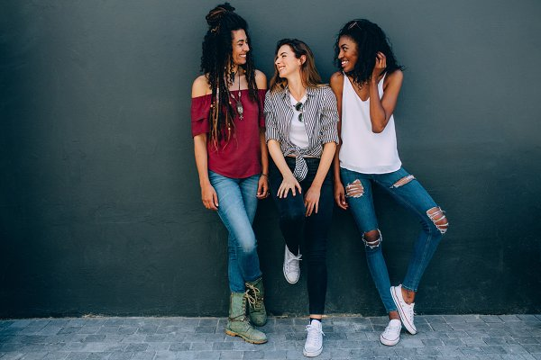 People Stock Photos: Jacob Lund Photography - Friends in fashionable clothing