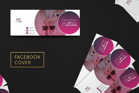 Glasses Shop Facebook Cover