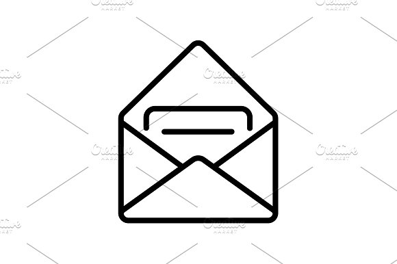 Web Line Icon Received Message