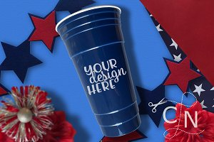 Patriotic Cup Craft Mockup