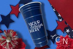 Patriotic Cup Craft Mockup