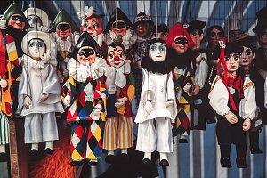 Venetian handcraft puppets