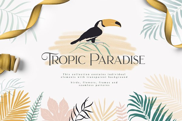 Illustrations and Illustration Products: Julia Dreams - Tropic Paradise Collection