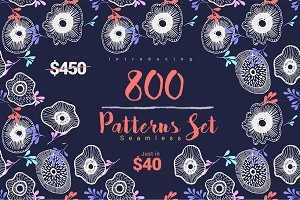 800 Seamless Patterns Set