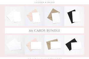 A6 Card Mockups Bundle