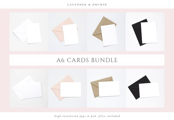 A6 Card Mockups Bundle