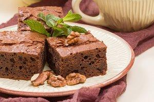 Brownie sweet chocolate dessert