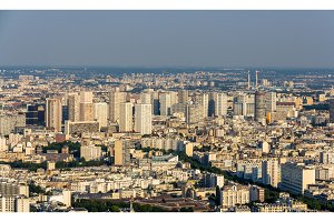 View of Paris from Maine-Montparnasse Tower - France