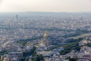 View of Les Invalides from Montparnasse Tower - Paris, France