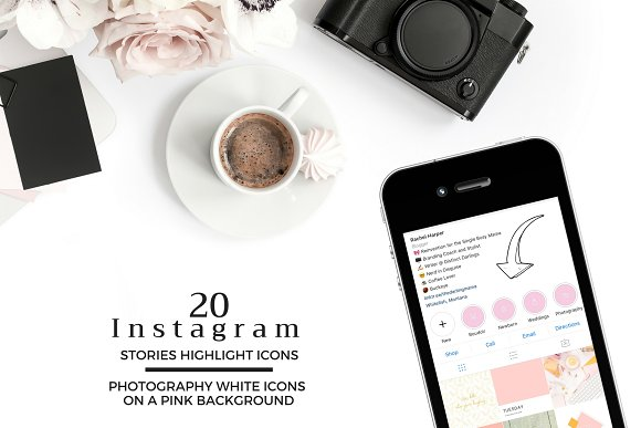 PHOTOGRAPHY Theme Instagram Icons in Instagram Templates