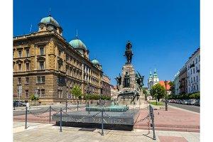 Battle of Grunwald monument in Krakow - Poland