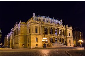 The Rudolfinum, a music auditorium in Prague, Czech Republic