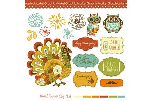 Thanksgiving, turkey, fall clip art
