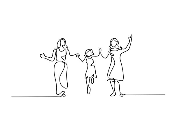 Family with mother, grandmother and…