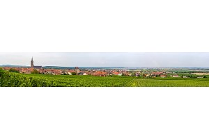 View of Dambach-la-Ville in Alsace - France