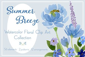 Summer Breeze Floral Graphics