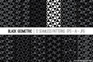 African Black Geometric Patterns