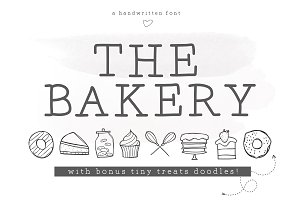 The Bakery - Serif and Doodle Font