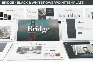 Bridge - Black & White Powerpoint