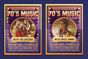 70's Music Show Poster Flyer