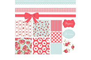 Shabby Chic Digital Scrapbook Papers