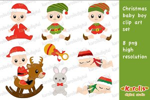 Christmas baby boy / clip art set