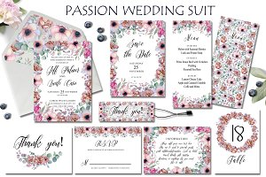 Passion flowers Wedding Suit
