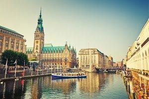 View on Hamburg townhall