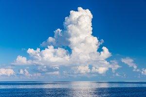 Beautiful clouds over ocean