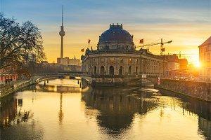 Berlin at sunny sunrise
